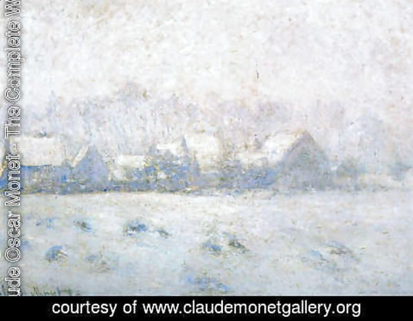 Claude Oscar Monet - Snow at Giverny