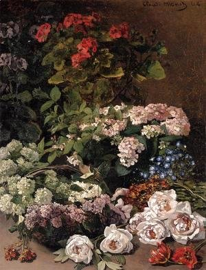 Claude Oscar Monet - Spring Flowers 1864