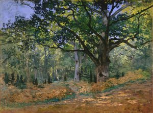 Claude Oscar Monet - The Bodmer Oak Fontainebleau Forest 1865
