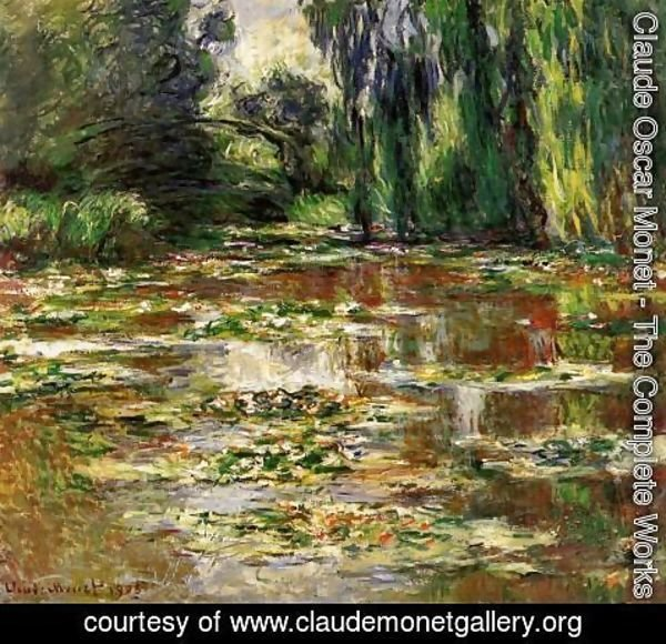 Claude Oscar Monet - The Bridge over the Water-Lily Pond 1905