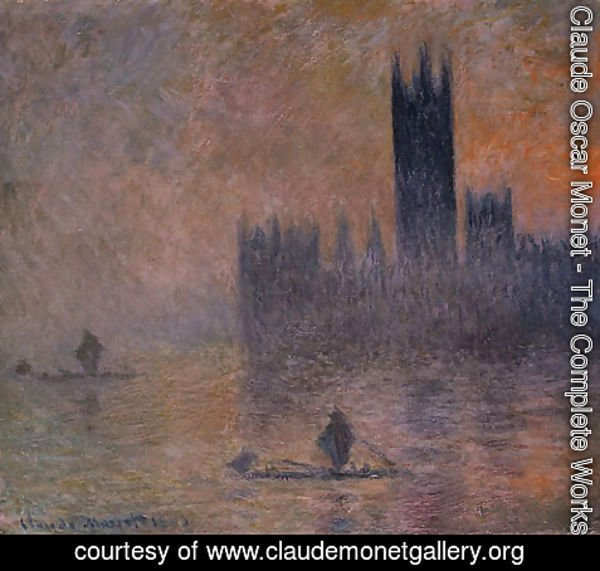 Claude Oscar Monet - The Houses of Parliament (Effect of Fog) 1903