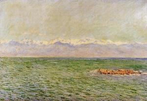 Claude Oscar Monet - The Meditarranean at Antibes2 1888