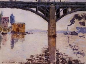 Claude Oscar Monet - The Road Bridge at Argenteuil1 1874