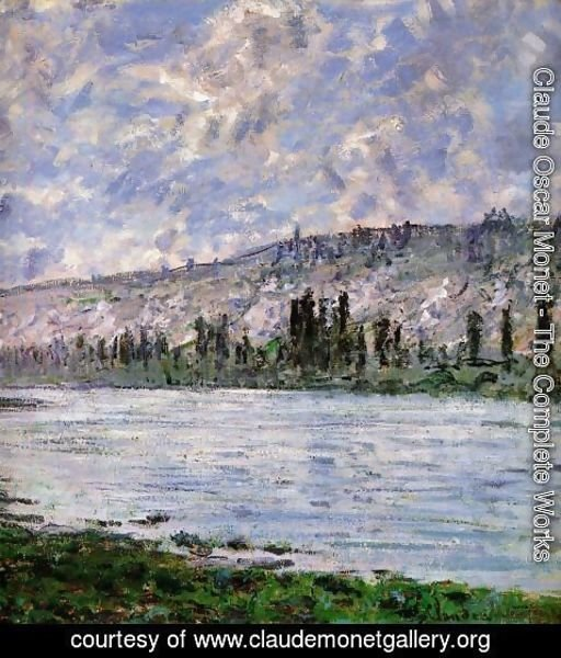 Claude Oscar Monet - The Seine at Vetheuil (detail) 1880