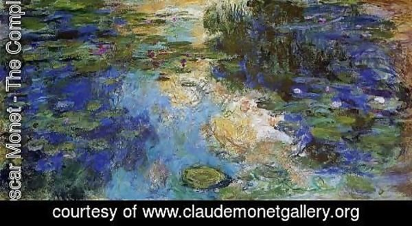 Claude Oscar Monet - The Water-Lily Pond 1917-1919