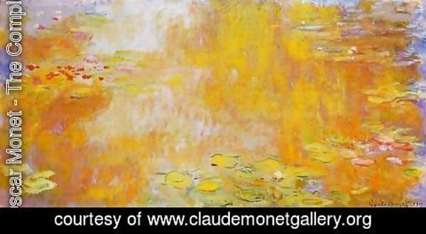 Claude Oscar Monet - The Water-Lily Pond3 1917-1919