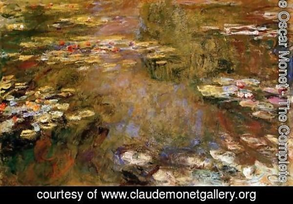 Claude Oscar Monet - The Water-Lily Pond4 1917-1919