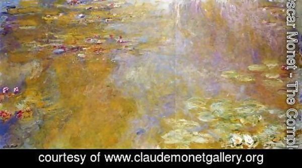 Claude Oscar Monet - The Water-Lily Pond6 1917-1919