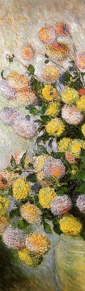 Claude Oscar Monet - Vase of Dahlias 1883