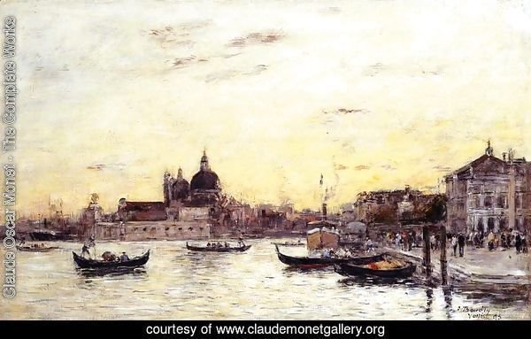 Venice The Mole at the Entrance to the Grand Canal and the Salute 1895