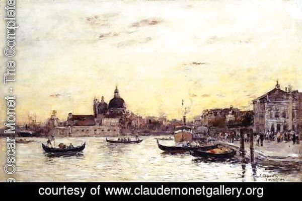 Claude Oscar Monet - Venice The Mole at the Entrance to the Grand Canal and the Salute 1895