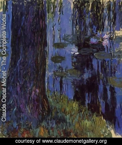 Claude Oscar Monet - Weeping Willow and Water-Lily Pond1 1916-1919