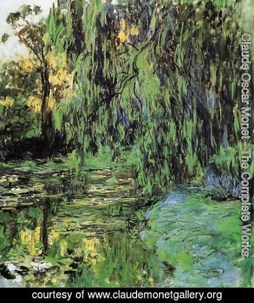Claude Oscar Monet - Weeping Willow and Water-Lily Pond2 1916-1919