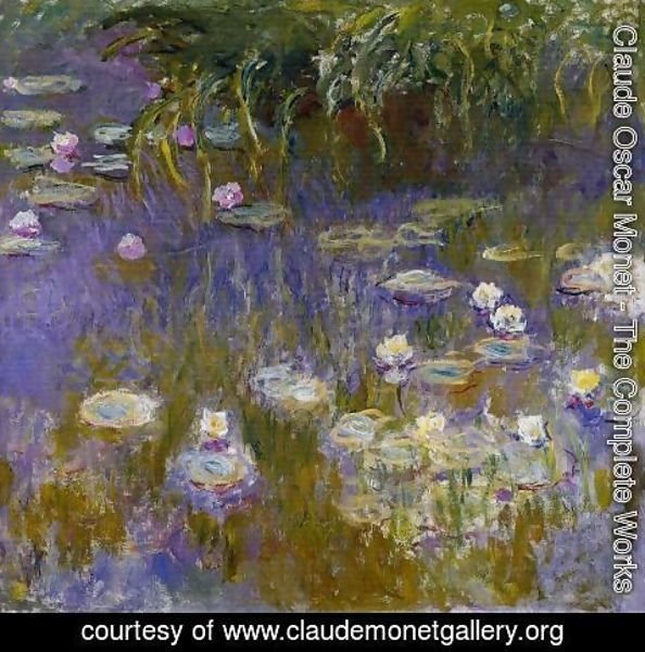 Claude Oscar Monet - Yellow and Lilac Water-Lilies 1914-1917