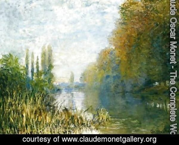 Claude Oscar Monet - Bords de la Seine en automne