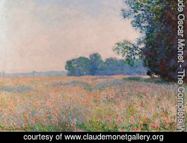 Claude Oscar Monet - Champ d'avoine