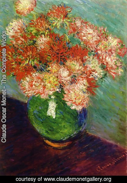 Claude Oscar Monet - Vase de chrysanthemes