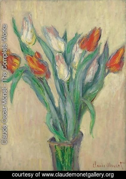 Claude Oscar Monet - Vase De Tulipes