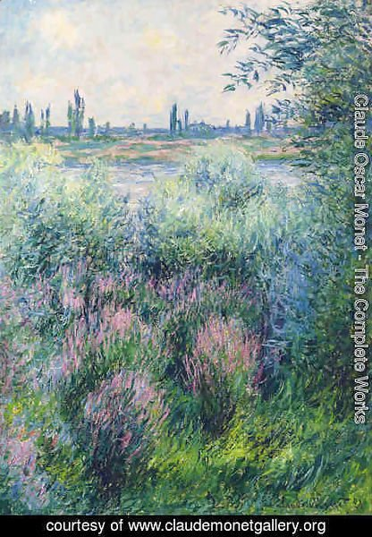Claude Oscar Monet - Bords De La Seine, Un Coin De Berge