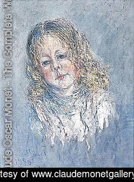 Claude Oscar Monet - Portrait of a girl