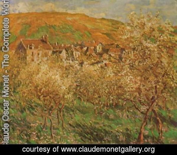 Claude Oscar Monet - Blooming apple trees