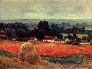 Claude Oscar Monet - The Poppy Field (The barn)