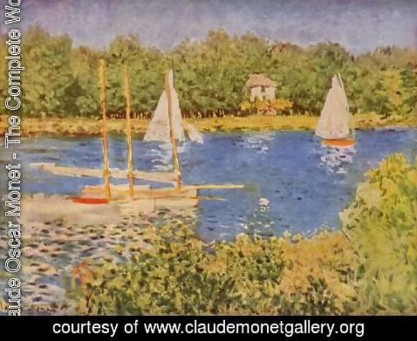 Claude Oscar Monet - Parliament in the Seine at Argenteuil Basin