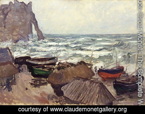Claude Oscar Monet - Perforated rock in Etretat