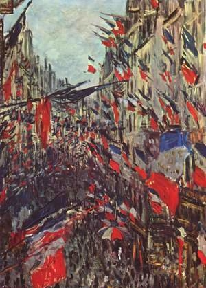 Claude Oscar Monet - Rue Saint-Denis on the national holiday