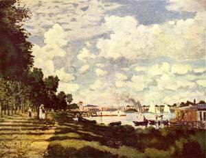 Claude Oscar Monet - The marina at Argenteuil 2