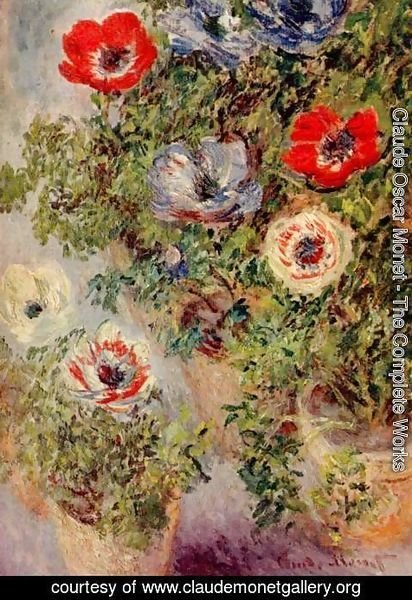 Claude Oscar Monet - Still Life with Anemones