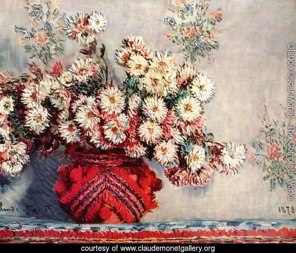 Still life with chrysanthemums
