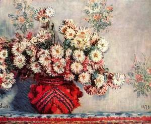Claude Oscar Monet - Still life with chrysanthemums