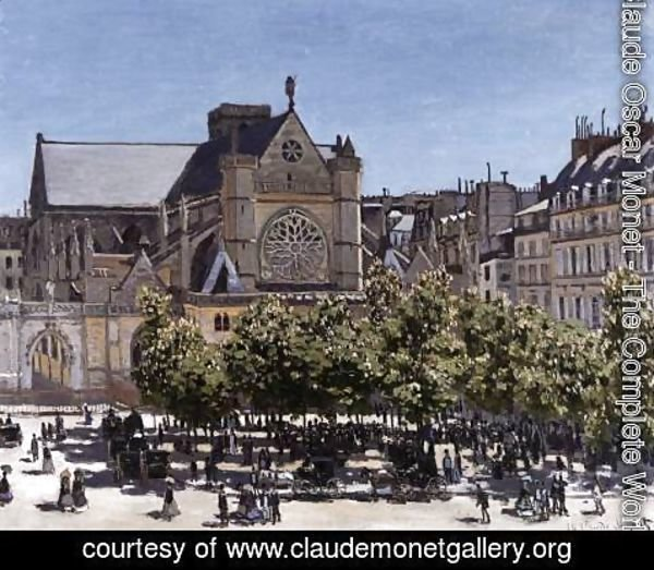 Claude Oscar Monet - The Church of Saint-Germain-l'Auxerrois