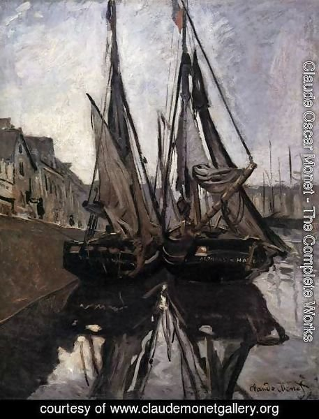 Claude Oscar Monet - Fishing Boats in Honfleur