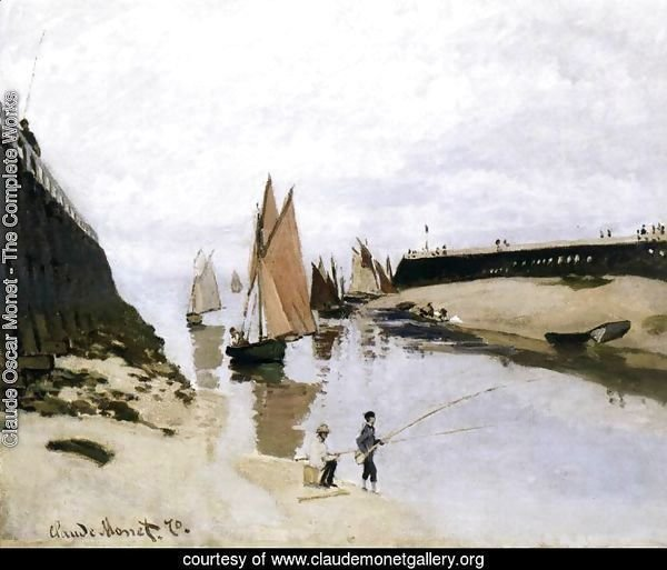 Landing Stage at Trouville, Low Tide