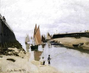 Claude Oscar Monet - Landing Stage at Trouville, Low Tide