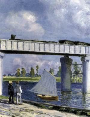 Claude Oscar Monet - The Railway Bridge at Argenteuil (detail)