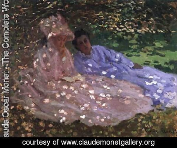 Claude Oscar Monet - Madame Monet and a Friend in the Garden