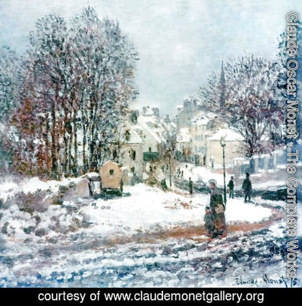 Claude Oscar Monet - Entrance of the Grande Rue at Argenteuil in Winter