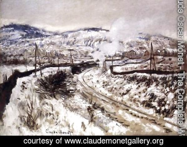 Claude Oscar Monet - Train in the Snow at Argenteuil