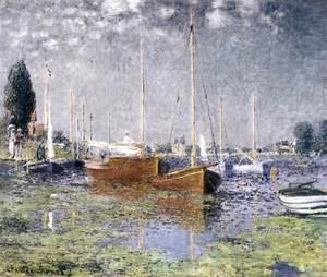 Claude Oscar Monet - Red Boats at Argenteuil