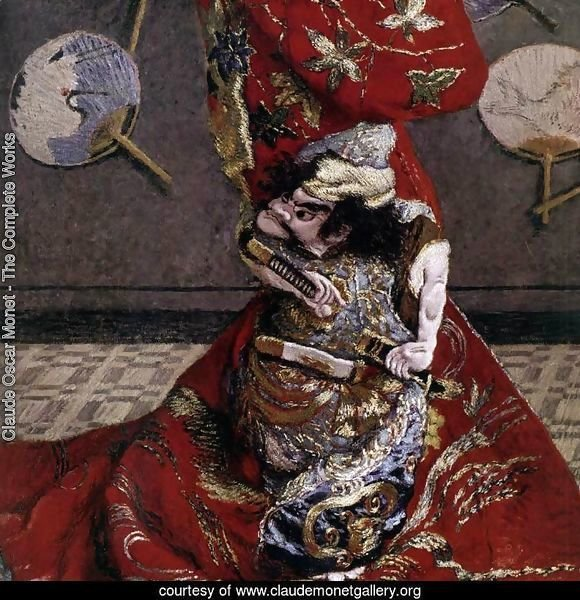 Camille Monet in Japanese Costume (detail)