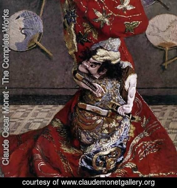 Claude Oscar Monet - Camille Monet in Japanese Costume (detail)
