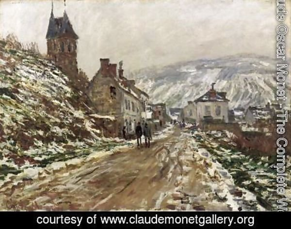 Claude Oscar Monet - Road into Vetheuil in Winter