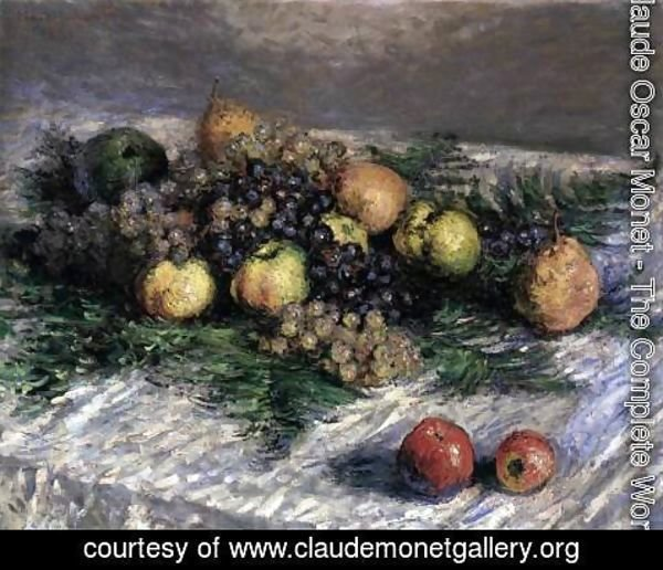 Claude Oscar Monet - Still-Life with Pears and Grapes 2