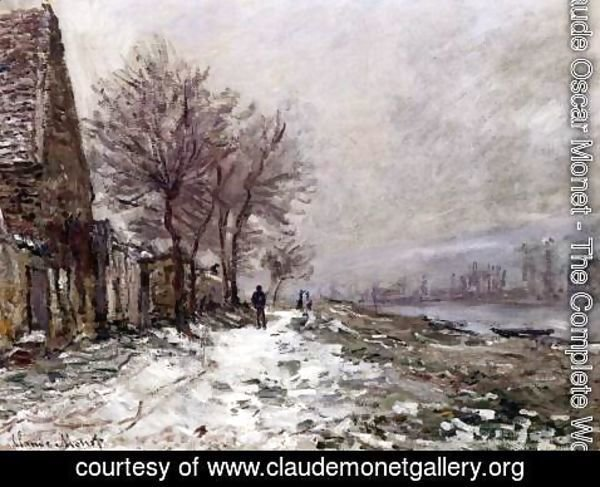 Claude Oscar Monet - Lavacourt in Winter