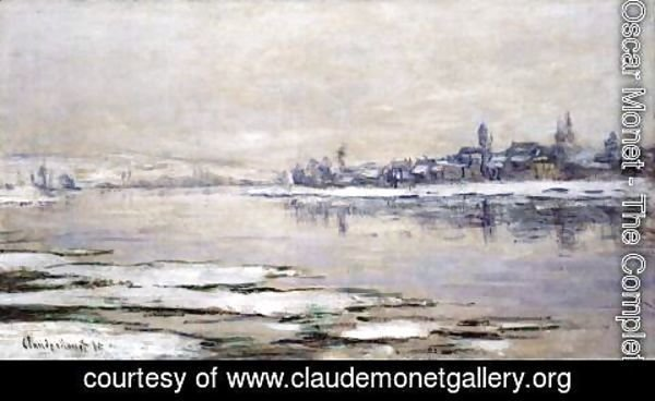 Claude Oscar Monet - The Breakup of the Ice at Lavacourt