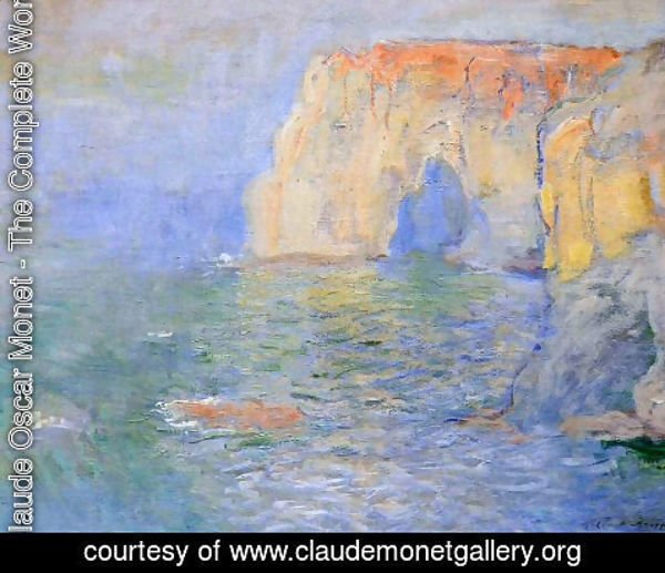 Claude Oscar Monet - Etretat, La Manneporte, Reflections on the Sea
