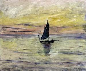 Claude Oscar Monet - Yacht, Effect of Evening